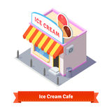 Ice cream restaurant and shop building Royalty Free Stock Photo
