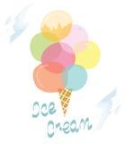 Ice cream retro design card Stock Images