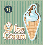 Ice cream in retro style Stock Images