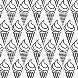 Ice cream rows monochrome pattern Stock Images