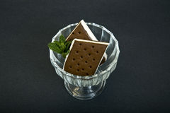 Ice cream sandwich Stock Photography