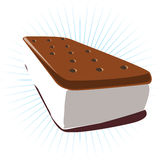 Ice cream sandwich Stock Photo