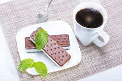 Ice cream sandwich Stock Images