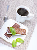 Ice cream sandwich Royalty Free Stock Photography