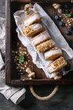 Ice cream sandwiches in cookies Royalty Free Stock Photos