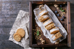 Ice cream sandwiches in cookies Royalty Free Stock Photo