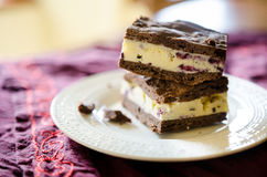 Ice cream sandwiches. Vanilla and blueberries ice cream sandwiches Stock Image