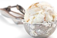 Ice cream scoop. Studio isolated on white background Stock Photo