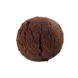 Ice cream scoop chocolate Stock Photography
