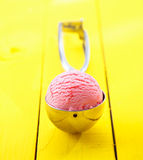 Ice cream scoop with ice cream in it Royalty Free Stock Images