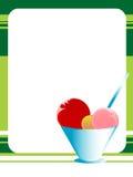 Ice cream scoops. On textured background Stock Image