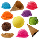 Ice Cream Scoops Collection Royalty Free Stock Photo