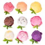 Ice cream scoops Stock Photos
