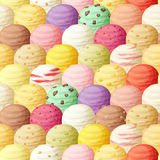 Ice cream scoops seamless pattern Stock Photos