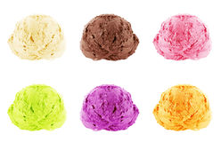 Ice Cream scoops Stock Image