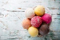Ice cream scoops Royalty Free Stock Photos