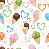 Ice cream seamless background Royalty Free Stock Photography