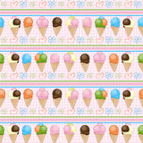 Ice cream seamless background Royalty Free Stock Images