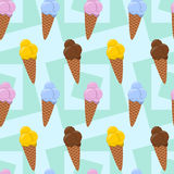 Ice cream seamless background design 2 Royalty Free Stock Photo