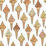 Ice cream seamless background Stock Image