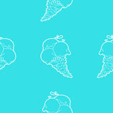 Ice-cream seamless blue pattern Royalty Free Stock Image