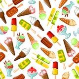 Ice cream seamless pattern background Stock Photos