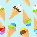 Ice cream seamless pattern Stock Photos