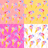 Ice cream seamless pattern Royalty Free Stock Images