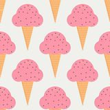 Ice cream seamless pattern in flat style Stock Photo