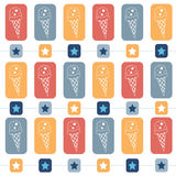 Ice-cream seamless  pattern Stock Photography