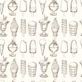 Ice cream seamless pattern Healthy diet style illustration Stock Photos