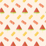 Ice cream seamless pattern Stock Photography