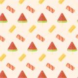 Ice cream seamless pattern Stock Photography
