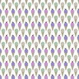 Ice Cream Seamless Pattern. Strawberry, blueberry, mint chocolate chip, and cookies and cream ice cream cones on white background Royalty Free Stock Images