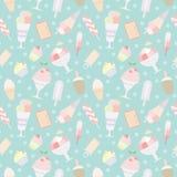 Ice cream seamless pattern. Sweet ice cream seamless pattern Stock Photography