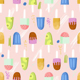 Ice cream seamless pattern Royalty Free Stock Photo