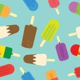Ice cream seamless pattern Royalty Free Stock Photos