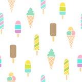 Ice cream seamless pattern. Stock Photos