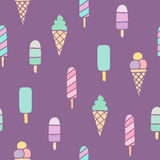Ice cream seamless pattern. Stock Photography