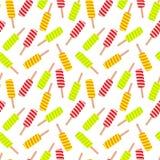 Ice cream seamless pattern. stock illustration