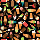 Ice cream seamless pattern Royalty Free Stock Photography