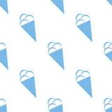 Ice cream seamless pattern Stock Photo