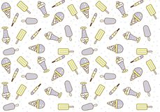 Ice Cream Seamless patterns sweets. Cute s Royalty Free Stock Images