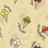 Ice cream seamless texture Royalty Free Stock Photos