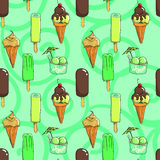 Ice cream seamless vector pattern Stock Image