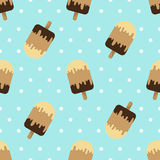Ice cream seamless vector pattern Stock Images