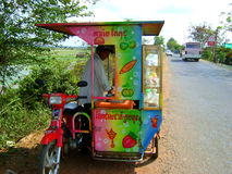 Ice cream seller. Asian Ice cream motorbike and cart Stock Photography