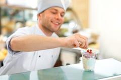 Ice cream seller royalty free stock image