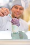 Ice cream seller stock image