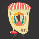 Ice cream seller. Stock Images